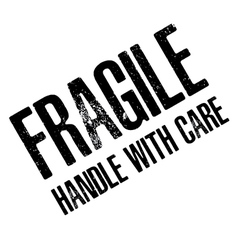 Fragile with handle with care isolated on white vector