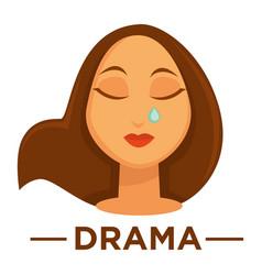 movie genre drama cinema icon of woman vector image vector image
