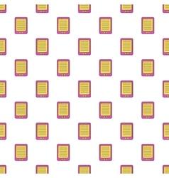 E-book pattern cartoon style vector
