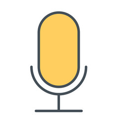 old microphone thin line icon pictogram vector image