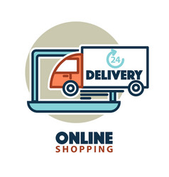 online shopping web icon template computer vector image vector image