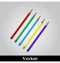 Pencil icon on grey background vector