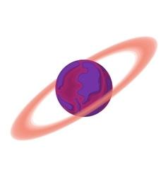 Saturn cartoon icon vector image