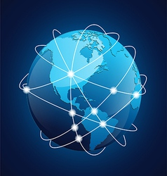 World Globe Navigation vector image vector image