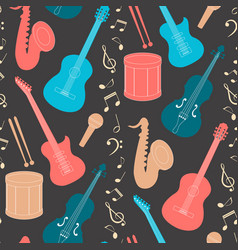 musical seamless pattern vector image vector image