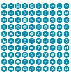 100 sport icons sapphirine violet vector