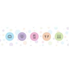 5 hard icons vector