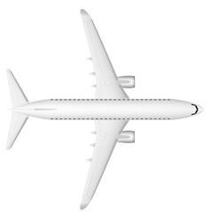 a modern jet passenger white plane on the runway vector image