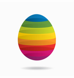 abstract background with colorful egg vector image