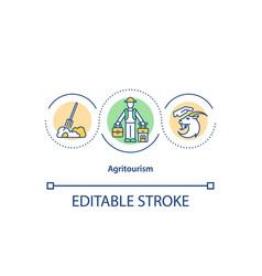 Agritourism concept icon vector