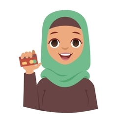 Arabic woman vector