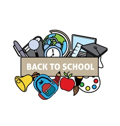 Back to school vector image