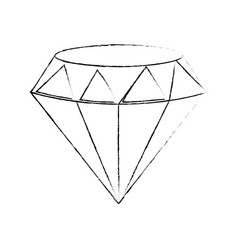 beautiful diamond isolated vector image