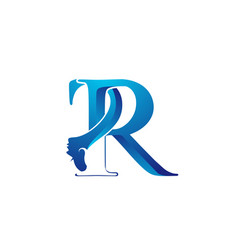 Beauty letter r s icon vector