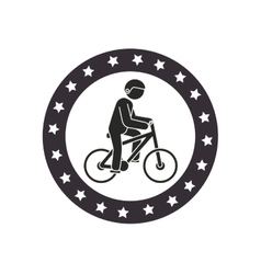 Bicycle Extreme sport athlete avatar vector