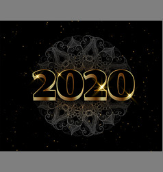 black and golden happy new year luxury style vector image