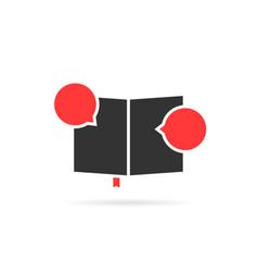 black classbook icon like comic book vector image