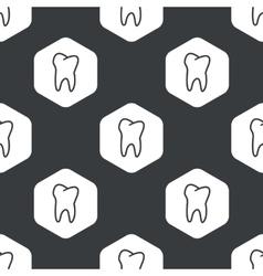 Black hexagon tooth pattern vector