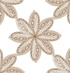 Brown Hand Drawn Floral Design vector
