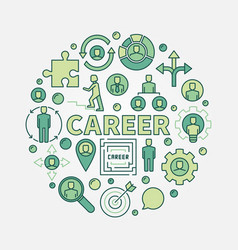 Career opportunities colorful vector