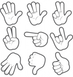 cartoon hands vector image