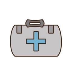 cartoon kit first aid cross emergency medical vector image