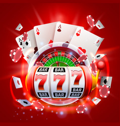 casino 3d cover vector image