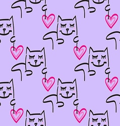Cat patterned background vector