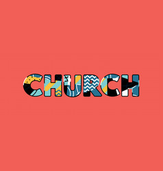 Church concept word art vector
