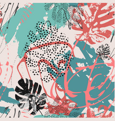 Cool abstract background modern with tropical vector