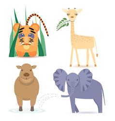 Cute africa animals vector