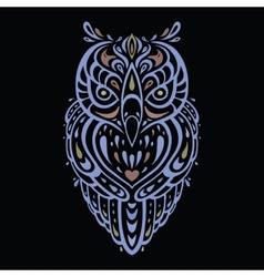 Decorative Owl Ethnic pattern vector image
