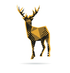 Deer abstract isolated vector