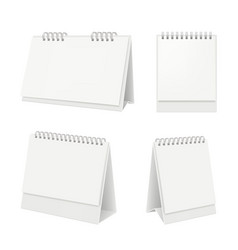 Desk calendar organizer with blank pages diary vector