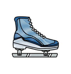 drawing ice roller skate sport image vector image