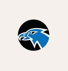eagle heroes logo template vector image