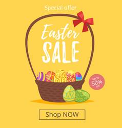 Easter sale banner vector