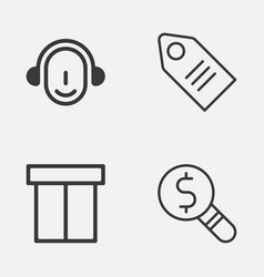 Ecommerce icons set collection of employee vector