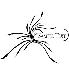 elegant oval frame for your design ilustration vector image