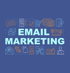 Email marketing word concepts banner business vector