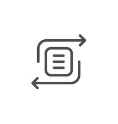 Exchange line icon vector
