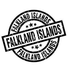 falkland islands black round grunge stamp vector image