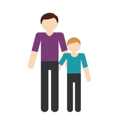 Family father child son togetherness vector