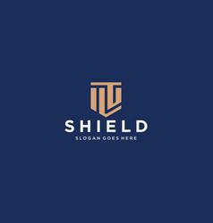 Fg letter shield icon vector