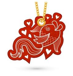 Fish and hearts vector