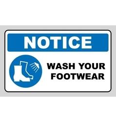 Footwear wash sign vector