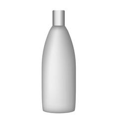 Fresh shower bottle mockup realistic style vector