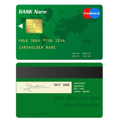 Front and back credit card vector