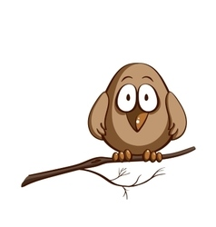 Funny sparrow on white vector