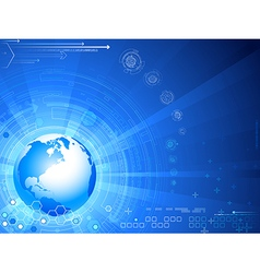 futuristic background with globe vector image
